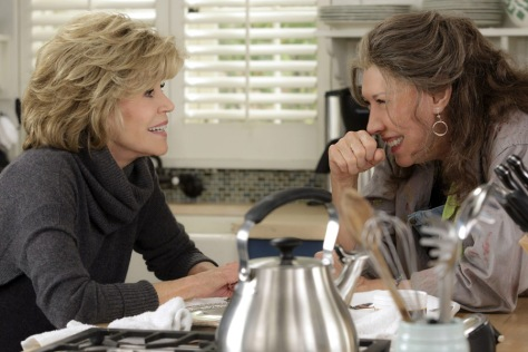 TV STILL -- DO NOT PURGE -- Jane Fonda and Lily Tomlin in the Netflix Original Series